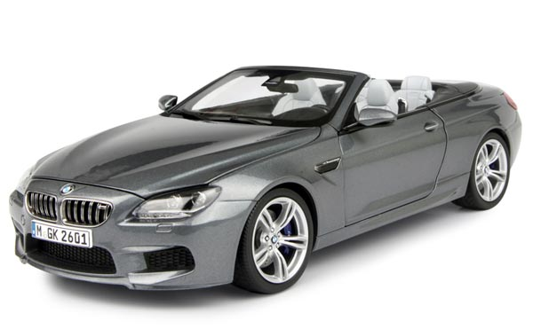 White / Gray 1:18 Scale Diecast BMW M6 Cabrio Model
