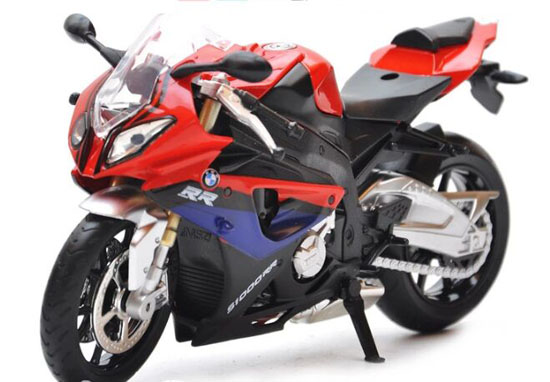 Blue / Red / White 1:12 Scale Diecast BMW S1000RR Motorcycle
