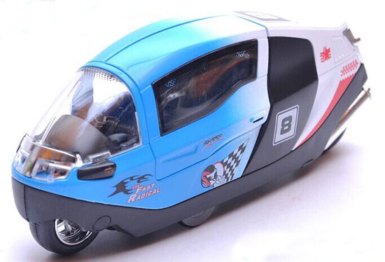 Blue / White / Red / Orange 1:12 Die-Cast Racing Motorcycle Toy