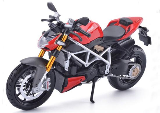 Red 1:12 Scale MaiSto Diecast Ducati StreetFighter Model