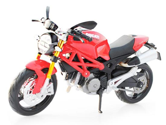 Black / Red MaiSto 1:12 Scale Diecast DUCATI MONSTER 696 Model