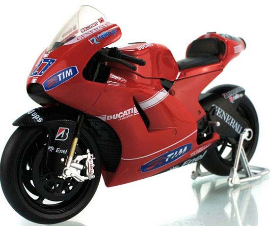 Red 1:12 Scale Diecast DUCATI Desmosedici RR GP Motorcycle Model