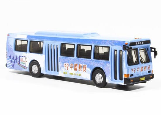 Blue 1:76 Scale Airshow China 1998 Die-Cast FLXIBLE Bus Model