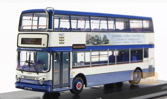 Blue 1:76 Scale CMNL Die-Cast Alexander ALX400 Bus Model