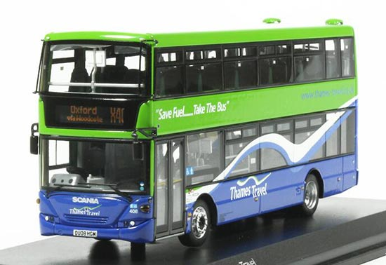 Green 1:76 Scale CMNL Die-Cast Scania Double Decker Bus Model