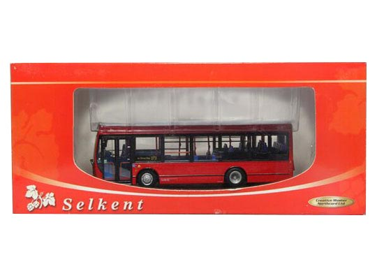 Red 1:76 Scale CMNL Diecast Britain E200 Single-Decker Bus Model