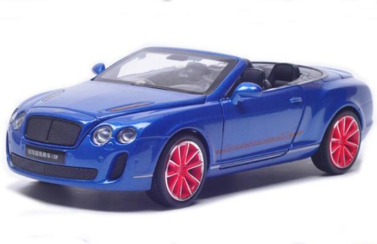 Blue / White / Black /Gray 1:32 Diecast Bentley Continental ISR