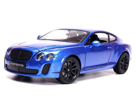 Blue / White / Black 1:24 Scale Diecast Bentley Continental GT