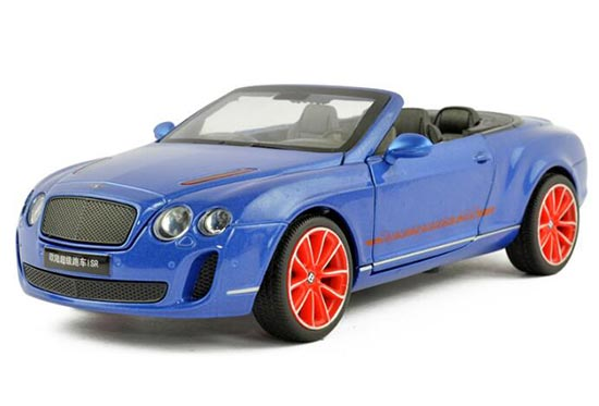 Blue / White 1:24 Scale Diecast Bentley Continental ISR Model