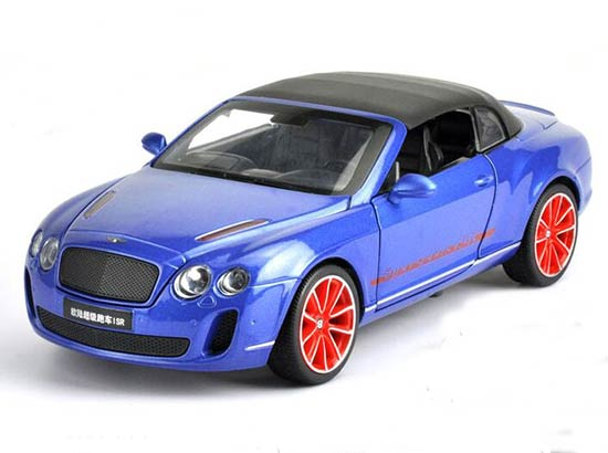 1:24 Scale Blue / White Diecast Bentley Continental ISR Model