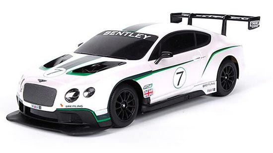 White 1:24 Scale MaiSto Full Functions R/C Bentley GT3 Toy