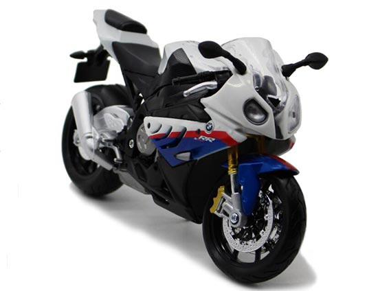 White-Blue 1:12 Scale MaiSto Assembly Diecast 2010 BMW S1000RR