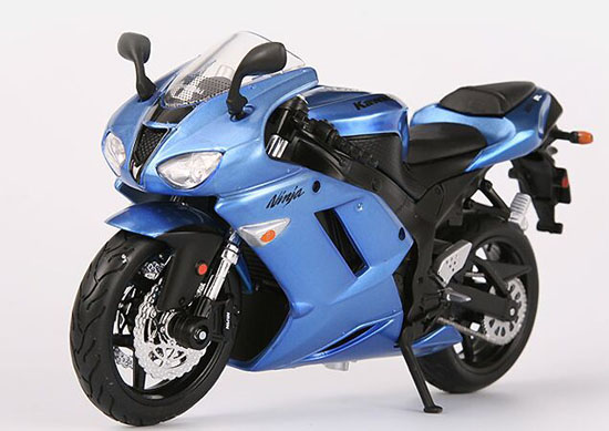 Blue 1:12 Scale MaiSto Assembly Die-Cast KAWASAKI Ninja ZX-6R