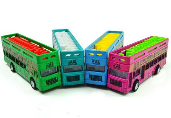 Kids Mini Green /Blue /Red /Sky Blue Die-Cast Double Decker Bus