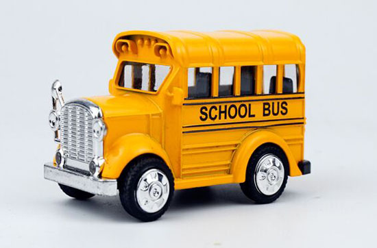 Yellow / White /Wine Red Mini Scale Kids Die-Cast School Bus Toy