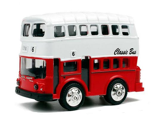 Blue / Green /Red Mini Scale Kids Die-Cast Double Decker Bus Toy