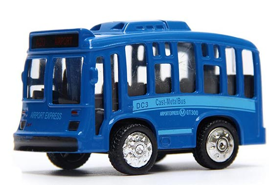 Kids White / Blue / Yellow Mini Scale Die-Cast City Bus Toy
