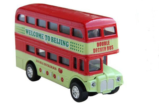 Kids Scale Red /Blue /Green Diecast BeiJing Double Decker Bus