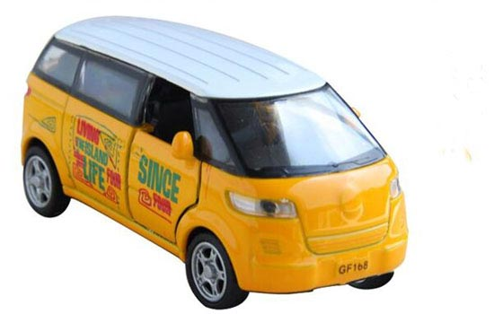Kids Yellow / Orange / Green Mini Scale Die-Cast City Bus Toy