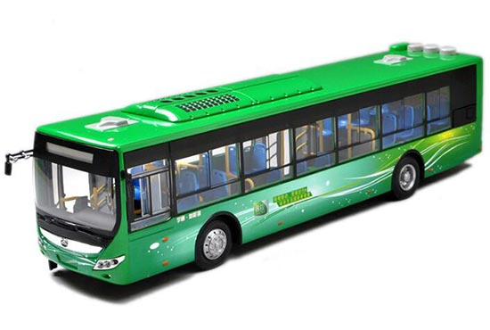 Green 1:42 Scale Die-Cast YuTong Bus Model