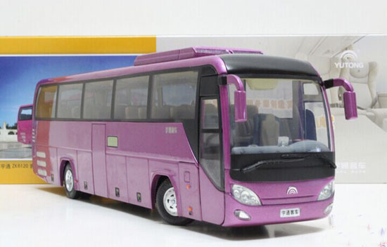 Purple 1:42 Scale Die-Cast YuTong Bus Model