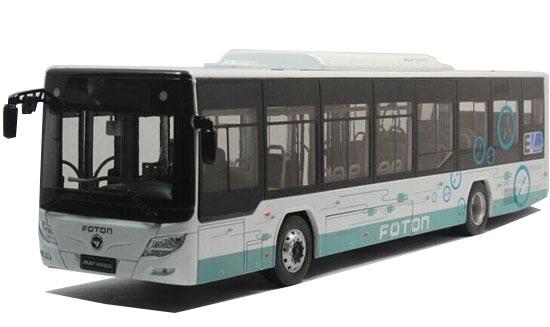 White 1:36 Scale Die-cast FOTON Bus Model