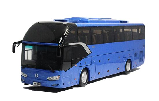 Blue / Golden 1:38 Scale Diecast Golden Dragon XML6122 Bus Model