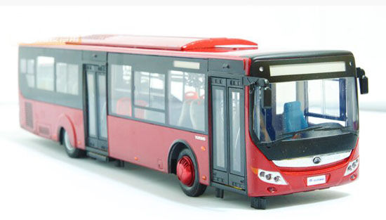 Red 1:43 Scale Die-Cast YuTong ZK6128HGK Bus Model