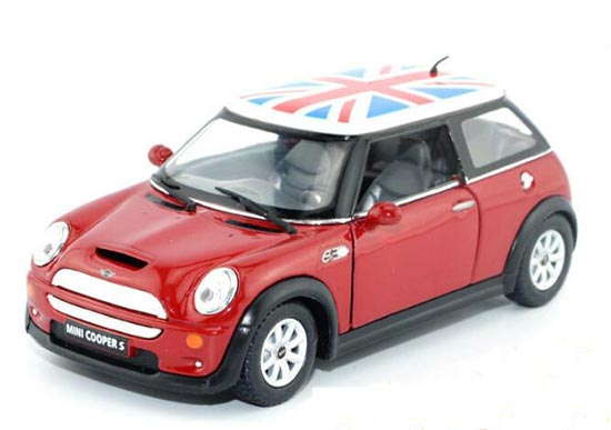 Kids Yellow / Blue / Green / Red Diecast Mini Cooper S Toy