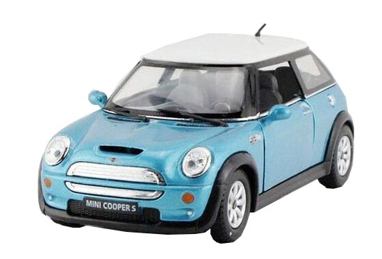 1:36 Scale Yellow /Blue /Green /Wine Red Diecast Mini Cooper S