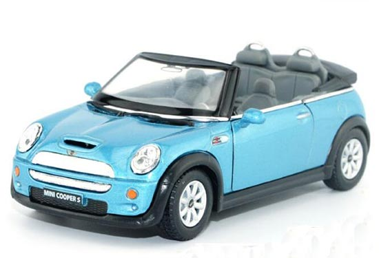 Kids 1:36 Blue /Yellow / Silver /Red Die-Cast Mini Cooper S Toy