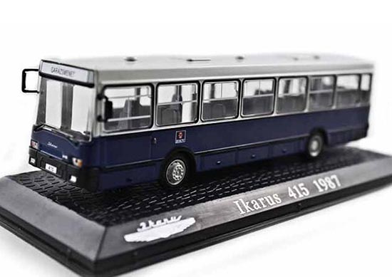 Blue-White 1:72 Scale Atlas Die-Cast IKARUS 415 1987 Bus Model