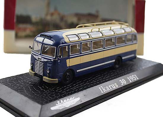 Blue 1:72 Scale Atlas Die-Cast IKARUS 30 1951 Bus Model