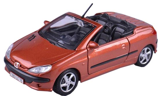 1:24 Scale Orange Maisto Diecast PEUGEOT 206 CC Model
