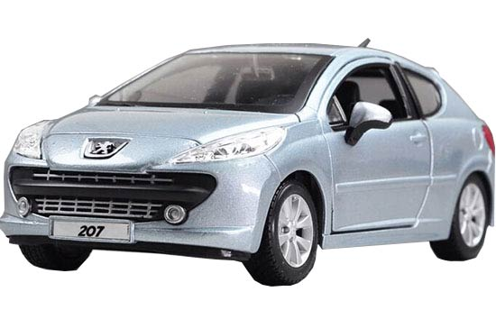 Blue 1:24 Scale Bburago Die-Cast PEUGEOT 207 Model