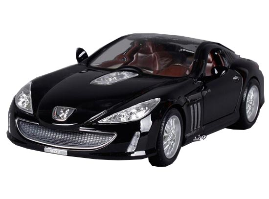 Black 1:18 Scale Bburago Die-Cast PEUGEOT 907 V12 Model
