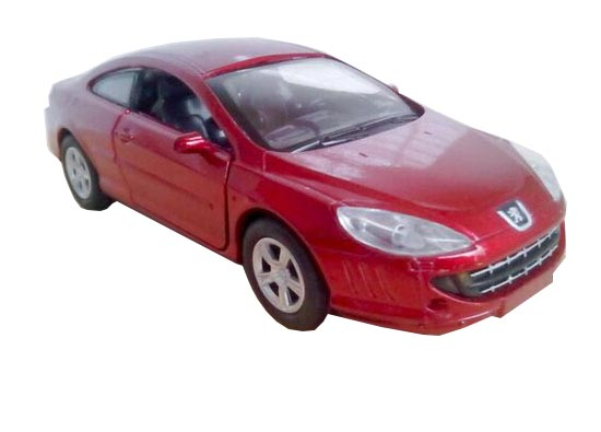Red / Silver 1:32 NewRay Die-Cast PEUGEOT 407 COUPE Toy