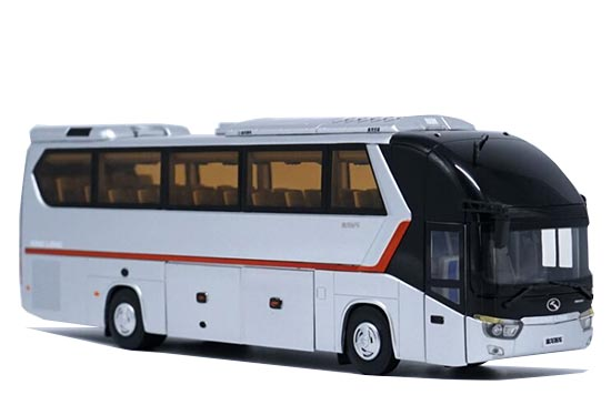 Silver 1:38 Scale Die-Cast King Long Coach Bus Model