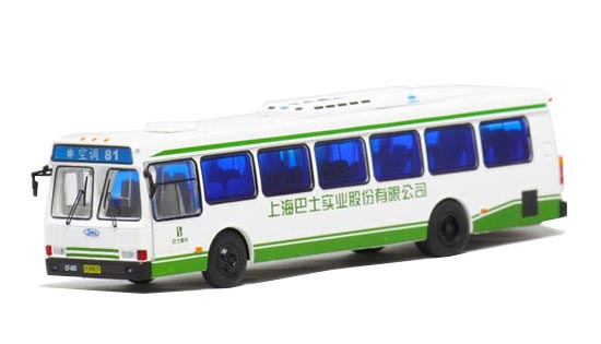 1:76 Scale White NO.81 Die-Cast FLXIBLE City Bus Model
