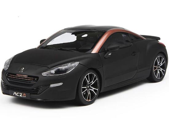 Black 1:18 Scale Norev Die-Cast Peugeot RCZ R Concept Model