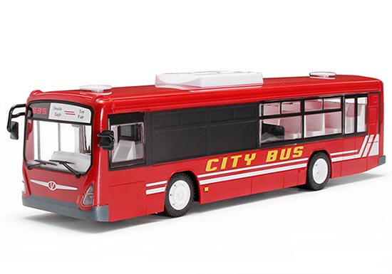 Kids Blue / Red Full Functions Opening Doors R/C City Bus Toy