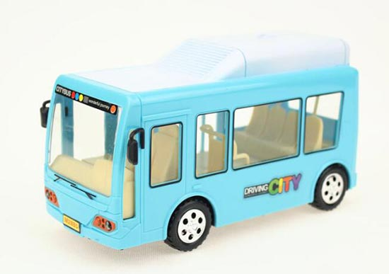 Kids Blue / Orange Plastics Electric City Bus Toy
