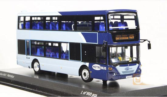 Blue 1:76 Scale CMNL Diecast Scania Double Decker Bus Model [NB8T938] : EZBUSTOYS.COM