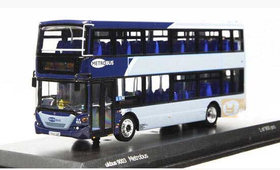 Blue 1:76 Scale CMNL Die-Cast Scania Double Decker Bus Model