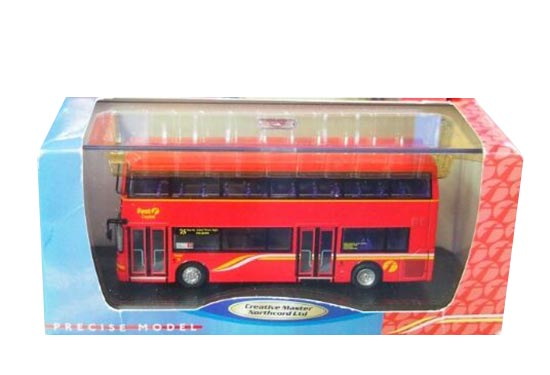 Red 1:76 Scale NO.25 CMNL Die-Cast Double Decker Bus Model