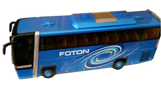 Blue 1:36 Scale Die-Cast Foton AUV Tour Bus Model