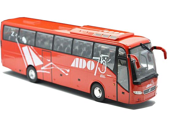 1:43 Scale Red Eligor Die-Cast Volvo 9700 Tour Bus Model
