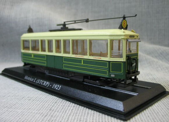 White-Green 1:87 Atlas Motrice L STCRP -1923 Tram Model