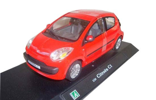 Yellow / Red 1:24 Scale Cararama Die-Cast Citroen C1 Model