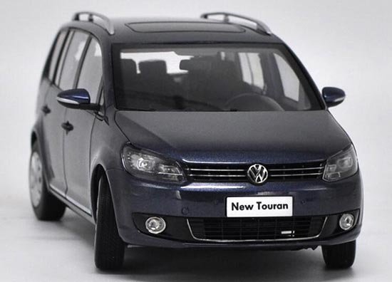 Black / Gray 1:18 Scale Diecast VW New Touran Model